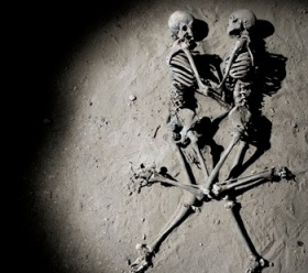 skeleton embrace