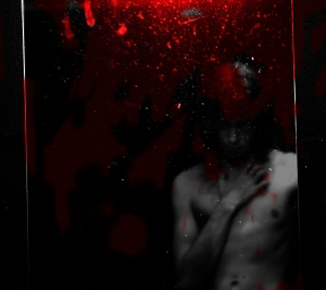 boy in bloody mirror