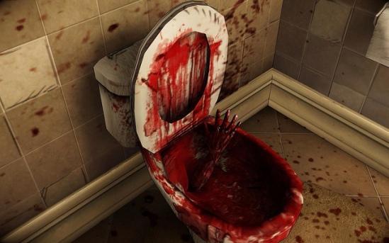 bloody toilet