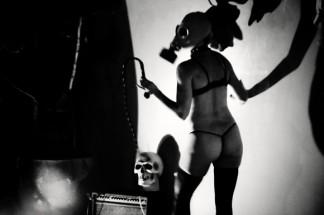 gasmask girl